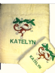 MONKEY SWINGING PERSONALISED TOWEL SET